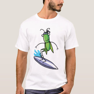 Patience, Grasshopper Surfing T Shirt