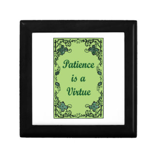 Patience is a virtue gift box