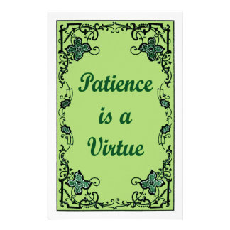 Patience is a virtue stationery