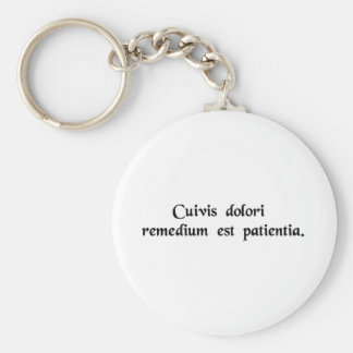 Patience is the cure for all suffering key ring