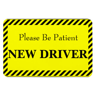Patience New Driver (For your car) Magnet