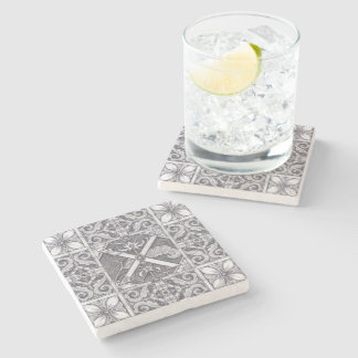 Patience Park Carved Stone Illustration X No.2. Stone Coaster