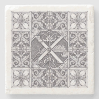 Patience Park Carved Stone Illustration X Stone Coaster