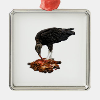 Patience Pays... Scavenger Eating Road Kill! Metal Ornament