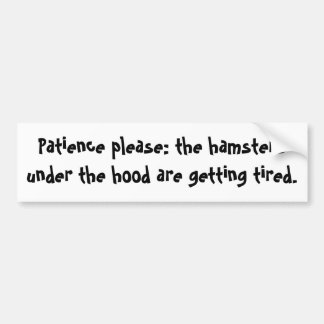 Patience Please Bumper Sticker