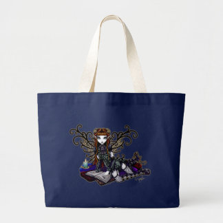 """Patience"" Reading Victorian Faery Large Tote Bag"