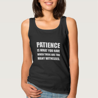 Patience Too Many Witnesses Singlet
