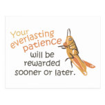 Patience will be Rewarded Postcard