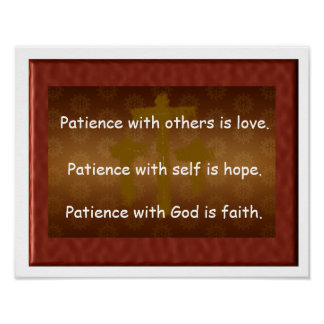 Patience with God Poster
