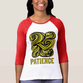 """Patience"" Women's 3/4 Sleeve Raglan T-Shirt"