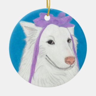 Patient Eskie, A Profound Hounds Ornament