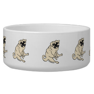Patient Pug Dog Bowl