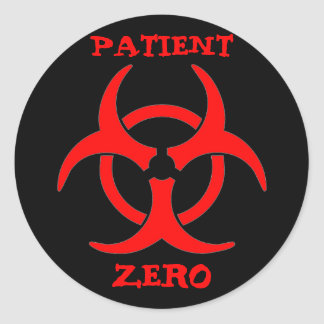 Patient Zero Biohazard Sticker