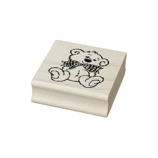 Patiently Waiting Christmas Rubber Stamp