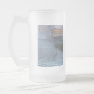 Patiently Waiting Frosted Glass Beer Mug