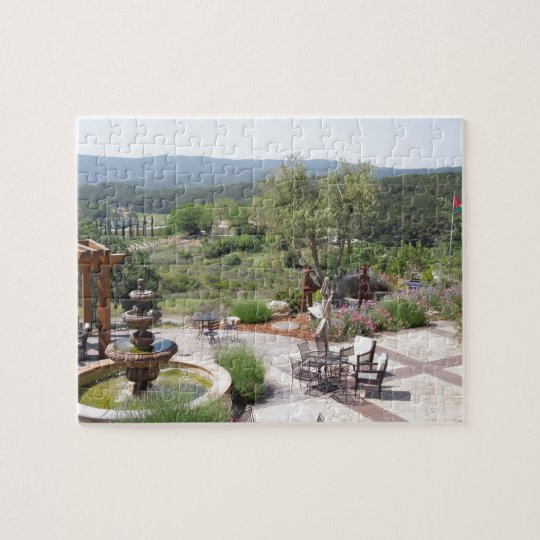 Patio of Croad Tasting Room, Paso Robles Jigsaw Puzzle