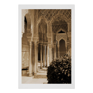 Patio of the Lions, Alhambra Palace Poster