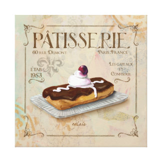 Patisserie III  French Wall Decor Canvas Print