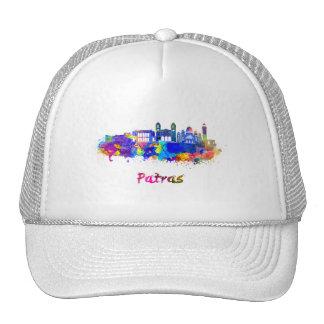 Patras skyline in watercolor cap