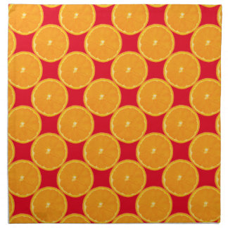 Patriciapotluck Orange Slice Red Cloth Napkin Made