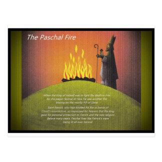 Patrick and  Paschal Fire Postcard