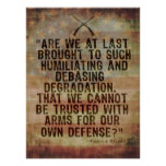 Patrick Henry 2nd Amendment Quotation Posters