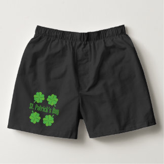 Patrick's Day with clover Boxers