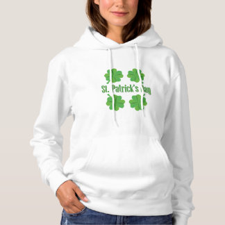 Patrick's Day with clover Hoodie