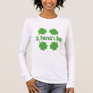 Patrick's Day with clover Long Sleeve T-Shirt