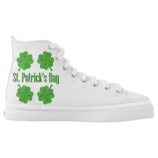 Patrick's Day with clover Printed Shoes