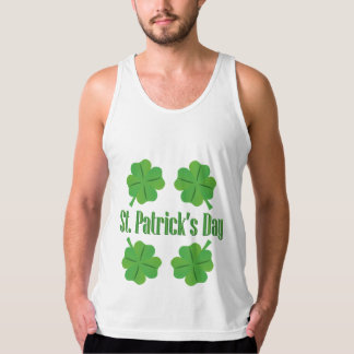 Patrick's Day with clover Singlet