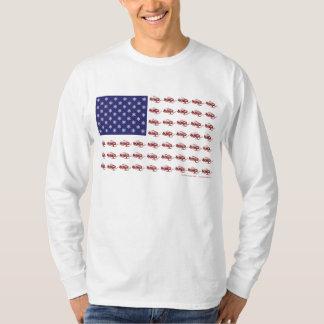 Patrioitic Snowmobiling T-Shirt