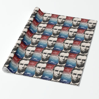Patriot Abraham Lincoln Wrapping Paper