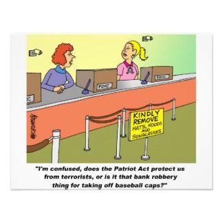PATRIOT ACT / BANK ROBBERY CUSTOM INVITATIONS