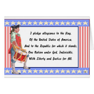 Patriot and Pledge of Allegiance Logo Greeting Card