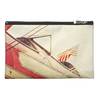 Patriot Antique Airplane Biplanes Red Travel Travel Accessory Bag