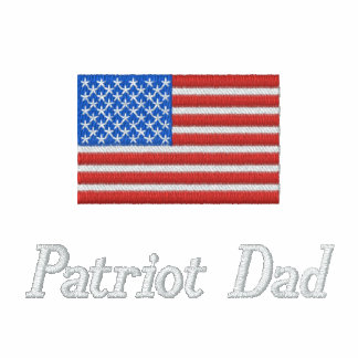 Patriot Dad Embroidered Golf Shirt Polo Shirt