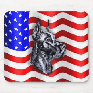 Patriot Dane Black Mousepad