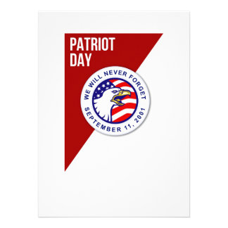 Patriot Day We Will Never Forget September 11 Post Personalized Invitation