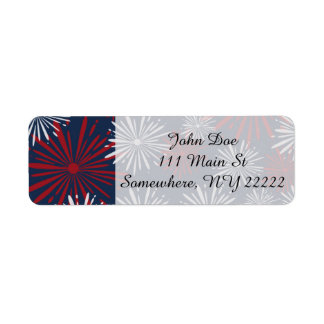 Patriot Fireworks Return Address Label