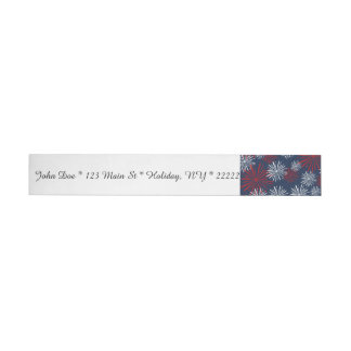 Patriot Fireworks Wraparound Address Label