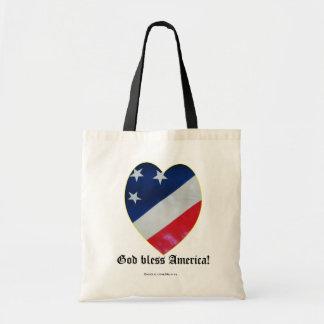 Patriot Heart Budget Tote Bag