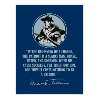 Patriot -Mark Twain Poster
