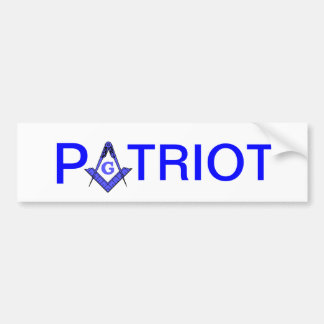 Patriot masonic bumper sticker