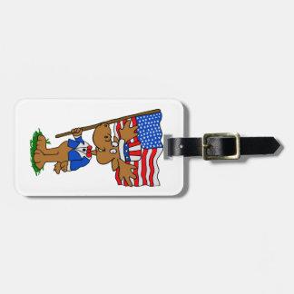 Patriot Moose Luggage Tag