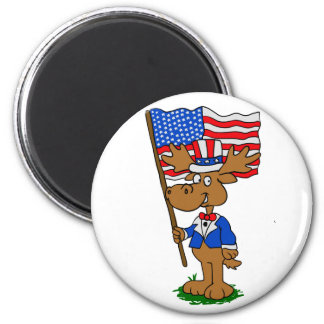 Patriot Moose Magnet