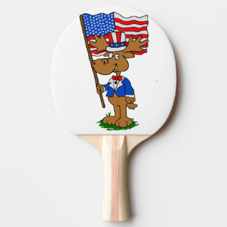 Patriot Moose Ping Pong Paddle