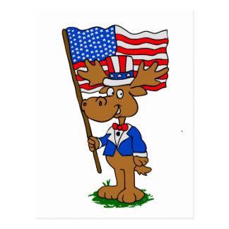 Patriot Moose Postcard