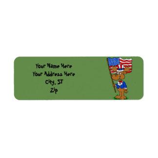 Patriot Moose Return Address Label