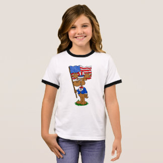 Patriot Moose Ringer T-Shirt
